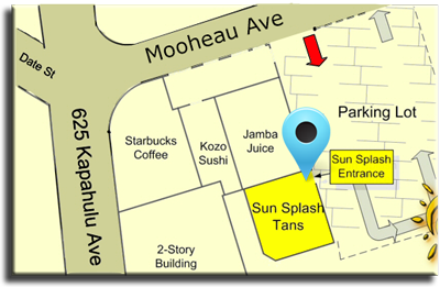Map of Sun Splash Tans Indoor Tanning Salon